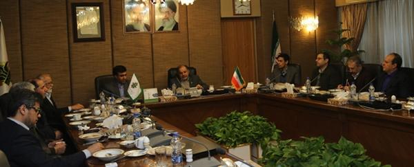 دیدار مدیران پردیس کشاورزی و منابع طبیعی دانشگاه تهران با مدیر عامل بانک کشاورزی