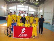 صعود تیم والیبال بانک شهر به مرحله حذفی مسابقات والیبال بسیج شهرداری تهران
