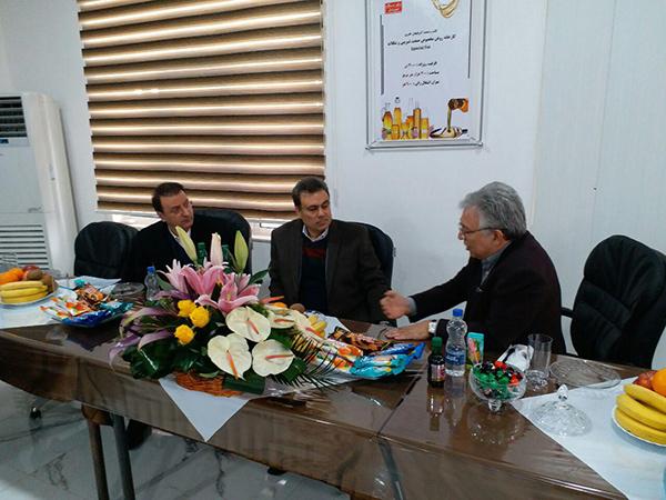 بازدید مدیرعامل بانک ملت از گروه شیرین عسل در تبریز